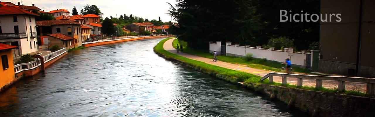 L'alzaia sul naviglio da Magenta a Turbigo in bicicletta