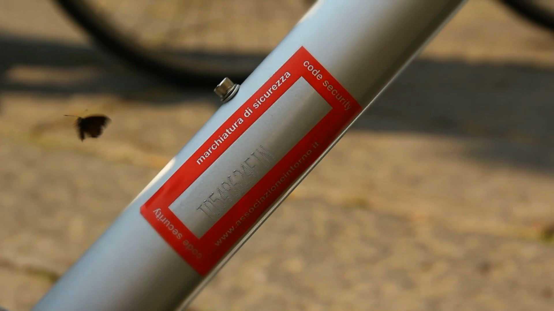 Marchiatura bici contro i furti
